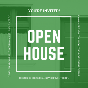 EcoGlobal open house invitation